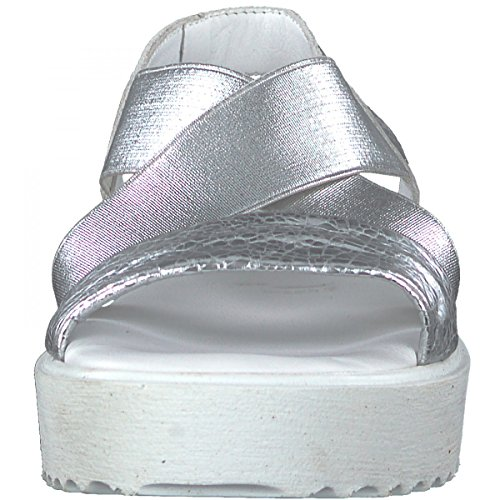 Tamaris 28219, Sandali con Cinturino alla Caviglia Donna Argento (Silver)