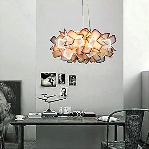 WEXLX Briefing de création nordique chambre à coucher salle de séjour romantique Protection oculaire diamètre 53cm haut Des lustres 25cm, 24W