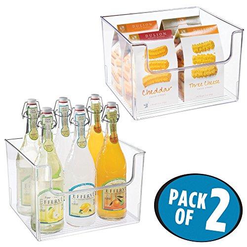 mDesign Juego de 2 cajas de almacenaje de alimentos – Organizador de...