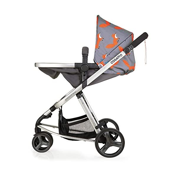 Cosatto Hold Mix Carseat Mister Fox Cosatto Includes - Pram & Pushchair, Hold Car seat, Adaptors, Apron and Raincover Suitable from birth up to 15kg, One unit transforms from newborn pram mode into pushchair mode. Space saving. No need to buy separates. 'In or out' facing pushchair seat lets them bond with you or enjoy the view. 6