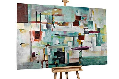 'Chaotisches Spiel' 180x120cm | Abstrakt Blau Muster Deko | Modernes Kunst Ölbild