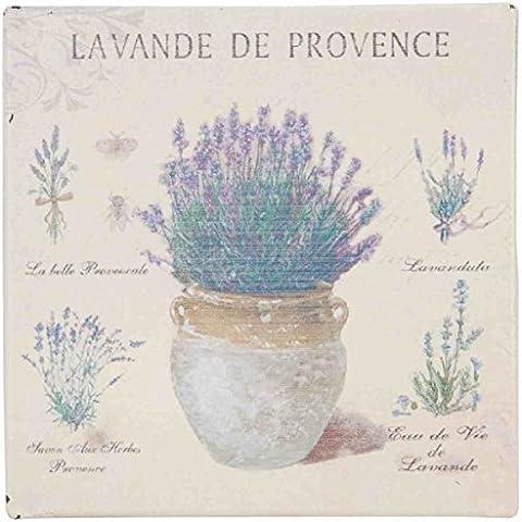 60668LA Clayre & Eef - Set di 6 magneti - Lavande de Provence ca. 10 x 10 cm
