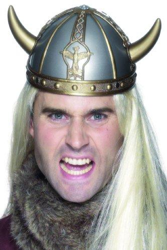 partypro Wikinger-Helm mit Motiven für Erwachsene in grau-Gold