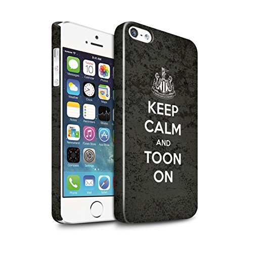 Offiziell Newcastle United FC Hülle / Glanz Snap-On Case für Apple iPhone 5/5S / Pack 7pcs Muster / NUFC Keep Calm Kollektion Toon On