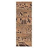 wandmotiv24 Türtapete Ägyptische Hieroglyphen auf Einer Alten Mauer Tapete Tür Türaufkleber Türbild Aufkleber 70 x 200cm (B x H) - Dekorfolie selbstklebend