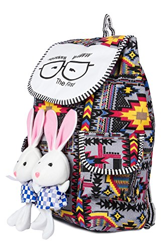 Trendifly New Stylish Bunny Backpack Bag for Women and College Girls Teddy Printed Multicolour Image 3