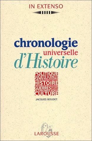 Chronologie universelle d'Histoire par Jacques Boudet