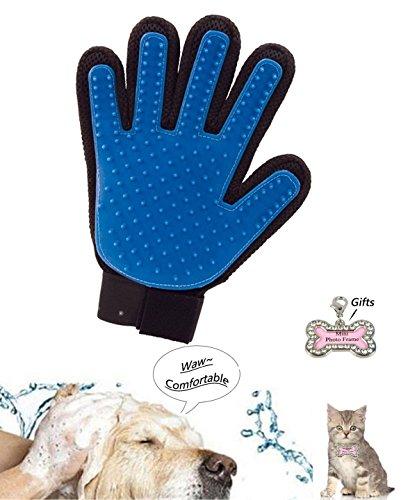 Haustier Badebürste Handschuh Silikon True Touch Kosmetik Shedding Haar Abgleich, Haarentfernung Bürste für Hunde, Katze-Pflegenbürste Bad Handschuh Healthcare