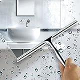 zantec Duschabzieher Vitre Raclette Wasser Putzbox Edelstahl Reinigung Raclette für Badezimmer...