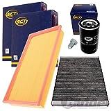 Filter Set Inspektionspaket 1x Filter, Innenraumluft1x Verschlussschraube, Oelwanne 1x Oelfilter 1x Luftfilter
