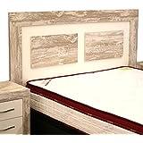 Cabezal cama de matrimonio color vintage y soul blanco con melamina textura madera para dormitorio de 160cm ancho x grosor 30MM x 121cm altura