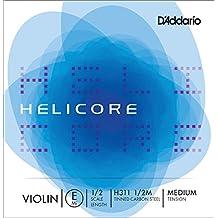 D'Addario H311 1/2M - Cuerda para violín de acero en Mi, 1/2 (tensión media)