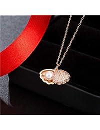 0181d7f82cd5 Necklace Home Nuevo Collar de Concha Femenino Colgante de Perla Femenina  Cadena de clavícula Corta Temperamento