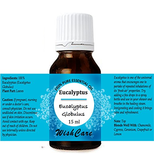 WishCare Eucalyptus Essential Oil 15 ML -100% Pure, Undiluted & Natural Therapeutic Grade - For Aromatherapy & Massage Over Skin, Muscle & Joints