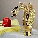 QMPZG-Rubinetti a risparmio idrico, squisita Swan forme, rubinetti, durevole acqua rubinetti di risparmio