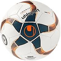 uhlsport Medusa Nereo Ballon de Foot Mixte Adulte, Blanc/Pétrole/Noir, Taille 4
