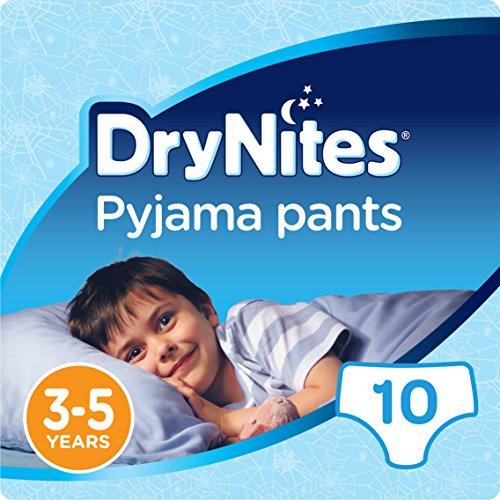 Huggies DryNites Pyjama Pants for Boys, Age 3-5 - 10 Pants Total
