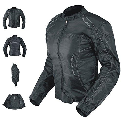 *Oxford Jacke Damen Textil Protektoren Thermoweste Motorrad Wasserdicht Schwarz XS*