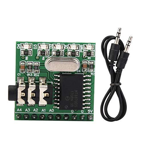 Audio-Decoder-Sprachdecodierungsmodul, MT8870D CE005 DTMF 5V-kompatibles Audio-Decodierungs-Sprach-5LEDs 2,54 mm Pin-Decodierungsmodul für ARDUIUO