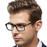OCCI CHIARI Optische Brillen Rahmen modisch flexibles Rechteck brille ohne