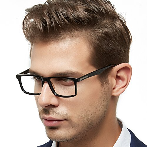 69afcf86cde9 OCCI CHIARI Men Fashion Rectangle Stylish Eyewear Frame With Non-Prescription  Clear Lens