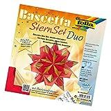 folia 326/2020 - Bastelset Bascetta Stern, Duo, 20 x 20 cm, 32 Blatt, rot/gold
