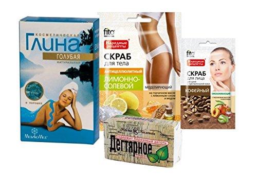 cura-del-corpo-kit-cosmetico-blu-argilla-100g-medikomed-tar-soap-bar-nevacosmetic-140g-cofee-viso-sc