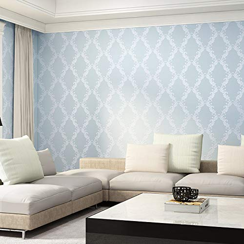 yhyxll Europäische 3D dreidimensionale Vliestapete Damaskus Wohnzimmer Schlafzimmer Hotel Tapete Verdickung 3