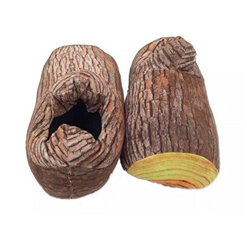 V. punto da adulto donna Babbo Natale Inverno Caldo Morbido Pantofole, donna, Wood Stump, taglia unica Wood Stump