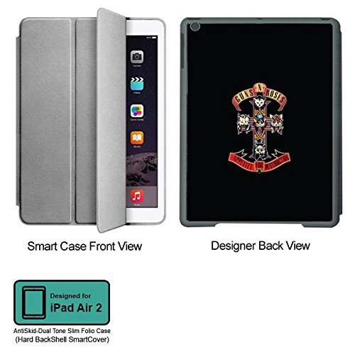 Universal Music Officially Licensed Guns n Roses -Appetite for Destruction Tablet Designer GRAY SMART CASE for APPLE IPAD AIR2
