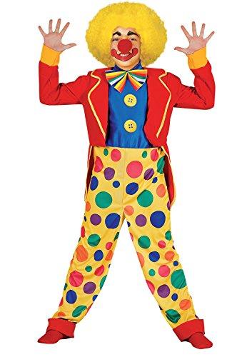 Ciao 10793 - Clown Ricciolino Costume Bambino con Make-Up, 7-9 Anni