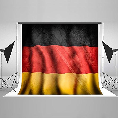 Kate Fotografie Hintergrund Fahne 2.2 x 1.5 m deutsche Flagge Foto Kulissen World Cup Photography Background Requisiten für Studio