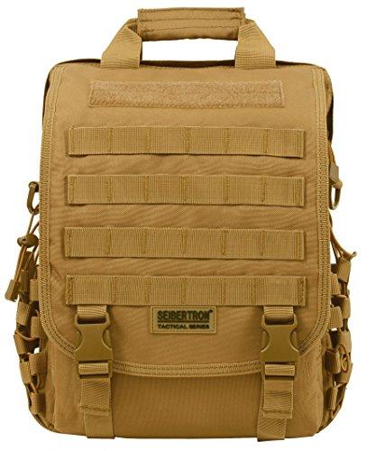 Seibertron Molle Multifunktions Umhängetasche Oder Rucksack Airport friendly Schultertasche, Aktentasche Sleeve Tasche für 15.6