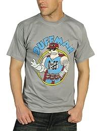 The Simpsons Duffman T-Shirt light grey - S