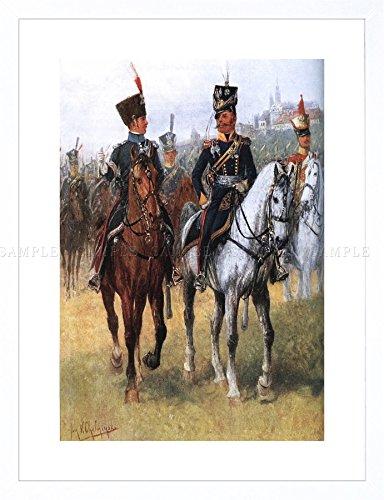 PAINTING POLISH ARMY CHELMINSKI 7TH ULAN REGIMENT WARSAW FRAMED PRINT F12X9042