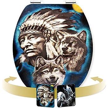 "Cornat WC-Sitz ""Howling Wolf"" - Hologramm-Effekt mit"