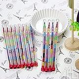 24 x Kinder-Swap Point-Pastellkreiden Stifte, Stempelkissen Swop Fächer für die Süßigkeitentüte