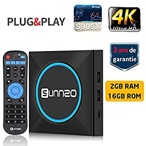 Nouvelles-arrives-2017-SUNNZO-Android-Mini-Smart-OS-71-BOXTV-HD-Lecteur-multimdia-en-streaming--clairage-LED-et-jeu-de-puces-Amlogic-S905X-de-RAM-2-GB-eMMC-16-GB-Wi-Fi-grande-exprience-4K