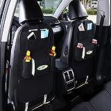 Rückenlehnenschutz & Utensilientaschen, LinLang Multifunktionale Aufbewahrungstasche Auto Sitz Tasche Reise Aufbewahrungsbox Filz Tasche (Schwarz) AP010