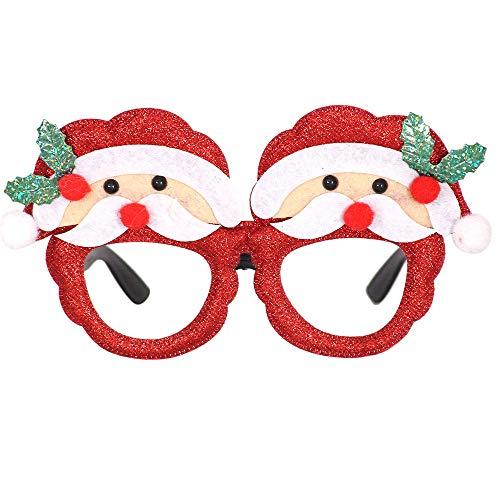 Cooljun Lunettes Noël Adulte Cosplay Déguisement Jouet Enfant Cute Cartoon Montures Lunettes Cadeau Fête de Noël Décorations de Noël (H)