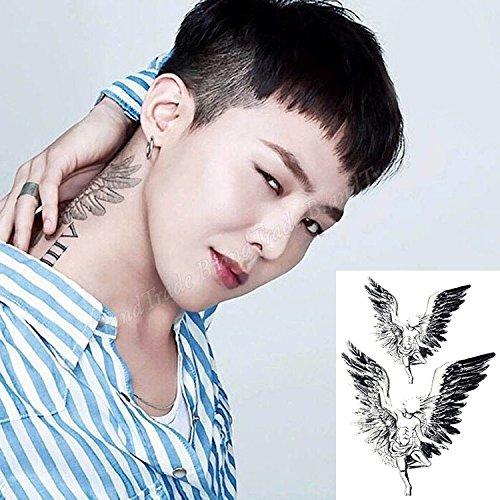 Temporäre Körperkunst klebbare Tätowierung Tattoo Aufkleber G Dragon Engelsflügel Tätowierung Tattoo ()