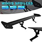 #6: AutoMT Black Car Hatchback Stylish Spoiler Universal GT Rear Trunk Racing Wing