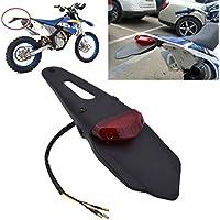 Garde-boue arrière pour moto - Feu stop arrière - Support noir pour plaque d'immatriculation - TUINCYN