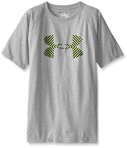 Under Armour Jungen-Shirt Tech, Kurzarm, mit großem Logo Gr. X-Small, True Gray Heather/Gold (Gold Heather)
