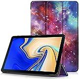 """Samsung Galaxy Tab S4 10.5 Étui, Housse Ultra Mince et Léger à Rabat avec Support et Fonction Réveil / Sommeil Automatique pour Samsung T830 / T835 Galaxy Tab S4 Tablette Tactile 10,5"""", Voie Lactée"""