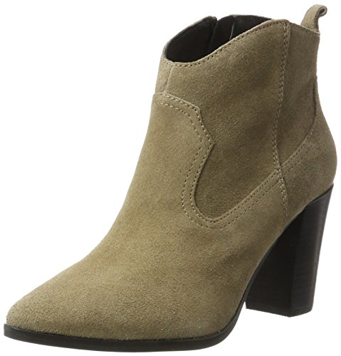 Buffalo London Damen 414-9489 Cow Suede Stiefel, Grau (Taupe 01), 40 EU