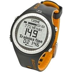 Sigma Pulsuhr PC 25.10 Reloj Pulsómetro PC25.10 Negro-Naranja, Incluye Banda torácica, señal codificada, Unisex_Adulto, Gris/Amarillo