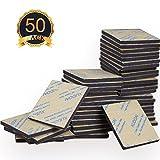50 Stück doppelseitiges schwarzes Schaumband, XUDOAI starke Polsterbefestigung, Kleber, Rechteck und rundes Klebeband (Quadrat)