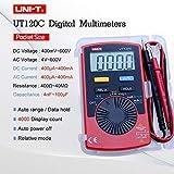 WYZXR UT120C Multimetro Digitale Tascabile multimetro Digitale Tester di Portata Automatica DC DC AC Diodo Mini misurato