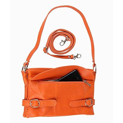 Made Italy, Poschette giorno donna arancione 24x16x8 cm (BxHxT) arancione